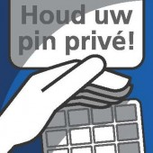 Sticker Houd uw pin prive