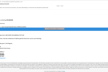 'Openstaande factuur' phishing mail in omloop